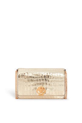 Gold Romy Croc Embossed Chain Wallet by kate spade new york accessories