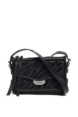Black Zebra Small Field Messenger Bag by rag & bone Accessories