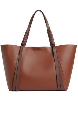 Burgundy Voltaire Tote by AllSaints