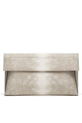 Natural Snake Karima Clutch by Christian Siriano Handbags