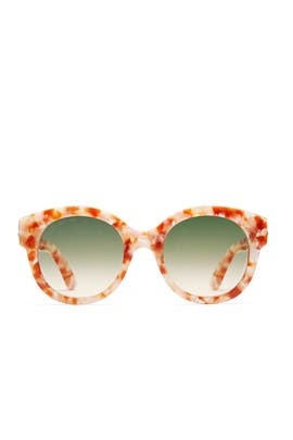 Beige Green Sunglasses by Gucci