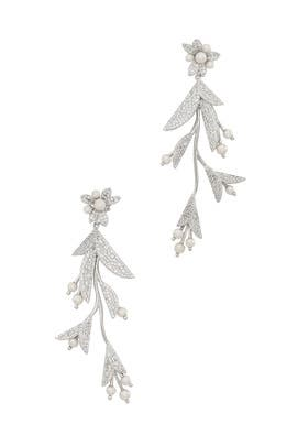 Clear Silver Antique Statement Earrings by kate spade new york accessories