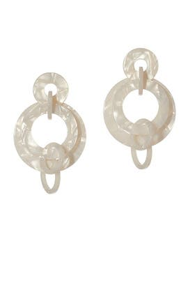 Banded Hoop Earrings by Lele Sadoughi
