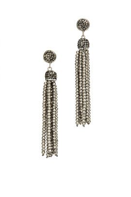 Gunmetal Tassel Earrings by Turkish Delight