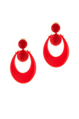 Moon Small Drop Earrings by Oscar de la Renta