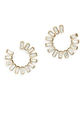 Gatsby Circle Earrings by Slate & Willow Accessories