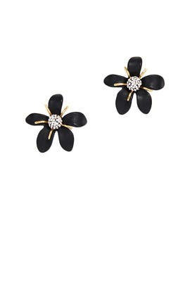 Black Trumpet Lily Earrings by Lele Sadoughi