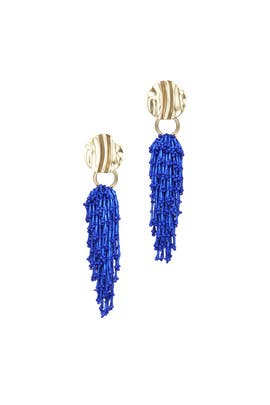 Blue Cascading Beaded Earrings by 3.1 Phillip Lim Accessories