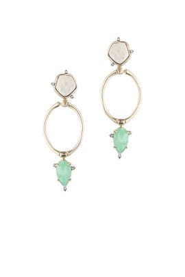 Druzy Stone Drop Earrings by Alexis Bittar