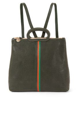 Green Marcelle Backpack by Clare V.