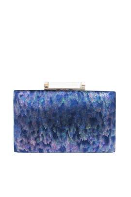 Iridescent Blue Minaudiere by Sondra Roberts