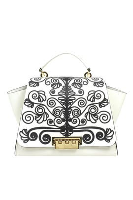 Printed Eartha Soft Top Handle Bag by ZAC Zac Posen Handbags