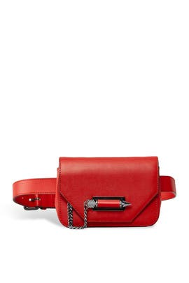 Red Devin Belt by Mackage Handbags