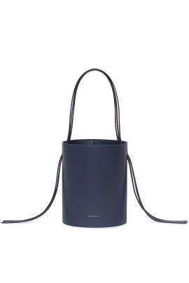 Blu Calf Fringe Bucket Bag by Mansur Gavriel Accessories