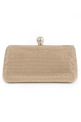 Gold Mesh Glam Clutch by Whiting & Davis