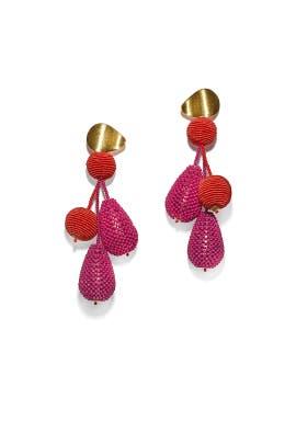 Pink Meteor Earrings by Lizzie Fortunato
