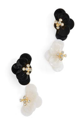 Jet Poppy Bouquet Earrings by Lele Sadoughi