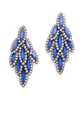 Cobalt Bacall Earrings by Elizabeth Cole