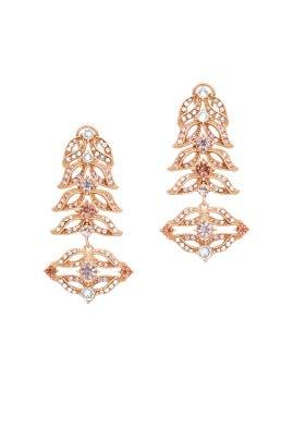 Gold Rococo Statement Earrings by Lulu Frost