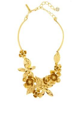 Gold Flower Statement Necklace by Oscar de la Renta