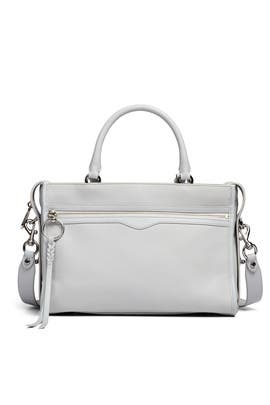Grey Bedford Zip Satchel by Rebecca Minkoff Accessories