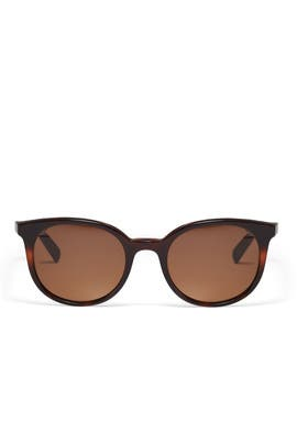 Round Havana Sunglasses by Céline
