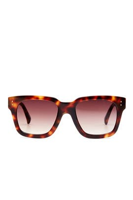 Tortoise Shell Sunglasses by Linda Farrow