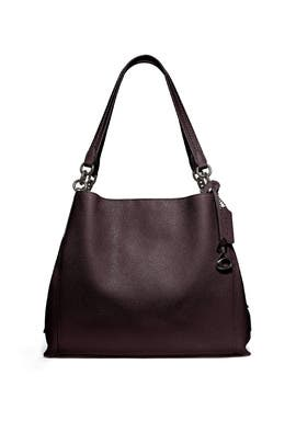 Oxblood Gunmetal Dalton 31 Bag by Coach Handbags