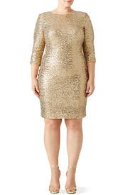 Gold Sequin Sheath by Badgley Mischka