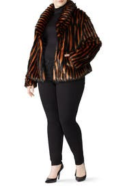 Solar Eclipse Faux Fur Jacket by Unreal Fur