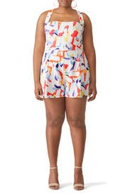 Printed Emerson Romper by Black Halo
