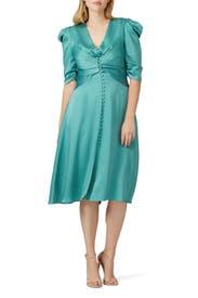 Ruched Front V-Neck Dress by Jonathan Simkhai