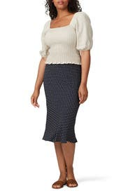 Paisley Everyday Midi Skirt by Sanctuary