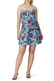 Twist Waist Cami Flounce Mini Dress by Derek Lam 10 Crosby