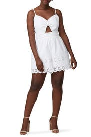 Eggshell Eyelet Romper by Great Jones