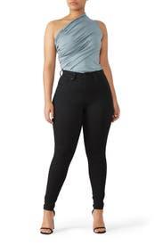 Black Mile High Super Skinny Jeans by Levi's