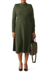 Green Antonia Dress by Black Halo
