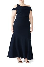 Navy Mermaid Gown by Theia