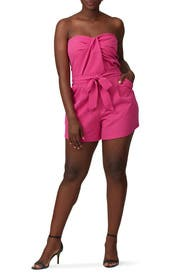 Pink Strapless Romper by Great Jones