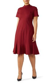 Burgundy Multi-Stitch Dress by Tome