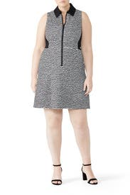 Printed Zip Up Polo Dress by Nanette Lepore