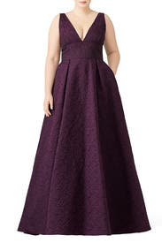 Burgundy Center Stage Gown by ML Monique Lhuillier