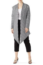 Check Scarf Lapel Jacket by Tome