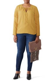Yellow Melanie Top by Amanda Uprichard