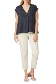 V-Neck Popover Top by RACHEL ROY COLLECTION
