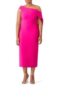 Fuchsia Drape Dress by Christian Siriano