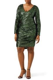 Sequin Shamrock Dress by Badgley Mischka
