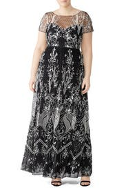 Embroidered Dotted Tulle Gown by Marchesa Notte