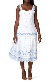 Eyelet Embroidered Bustier Dress by Jonathan Simkhai