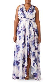Purple Cloud Printed Maxi by Badgley Mischka